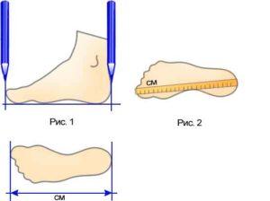 узнать размер обуви по длине стопы
